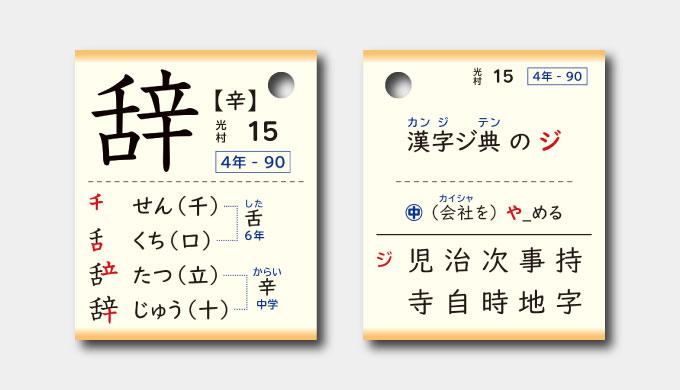 辞の漢字カード